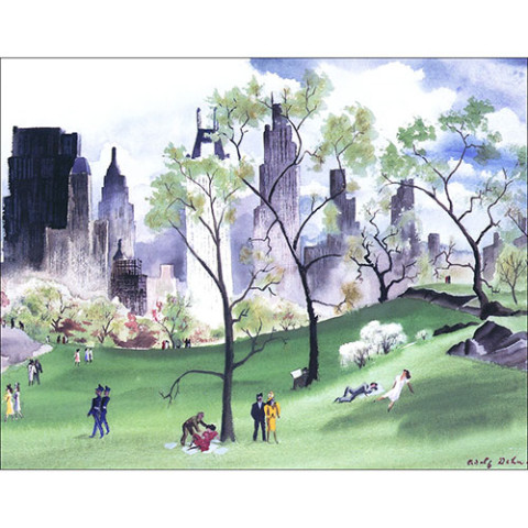 New York In Paintings Note Cards