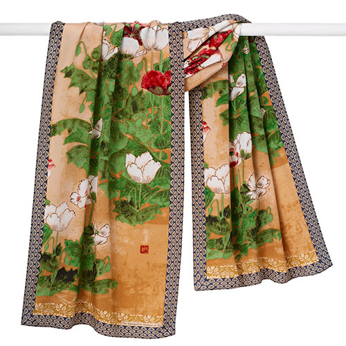 Japanese Poppies Scarf