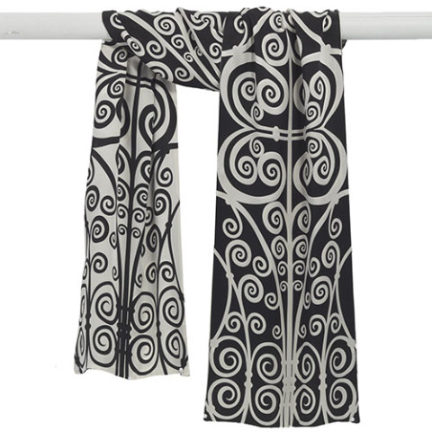 Belle Époque Swirling Scroll Scarf