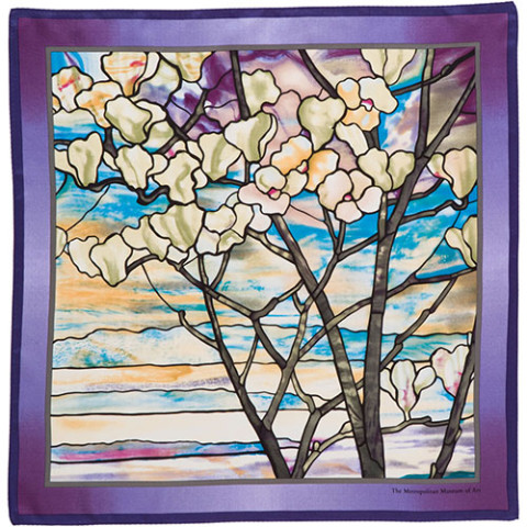 Louis Comfort Tiffany Magnolias and Irises Neckerchief