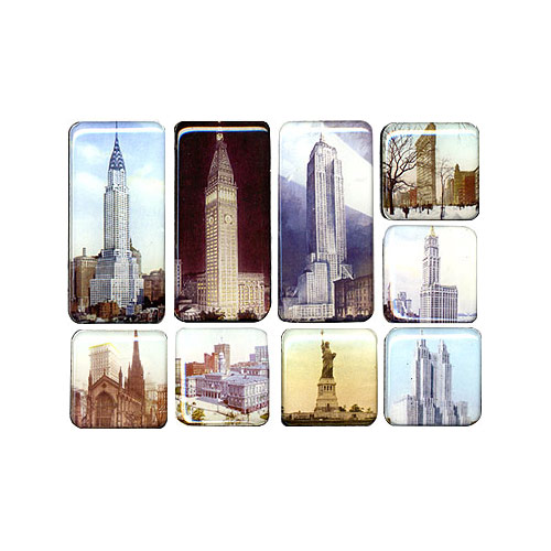 New York Postcards Museum Magnets