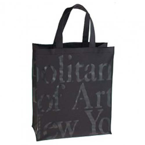 "Small Logo Bag-Black On Black - (10"" H X 91/2"" W)"