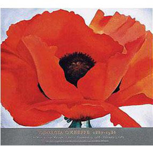 Georgia O'Keeffe: Red Poppy Poster