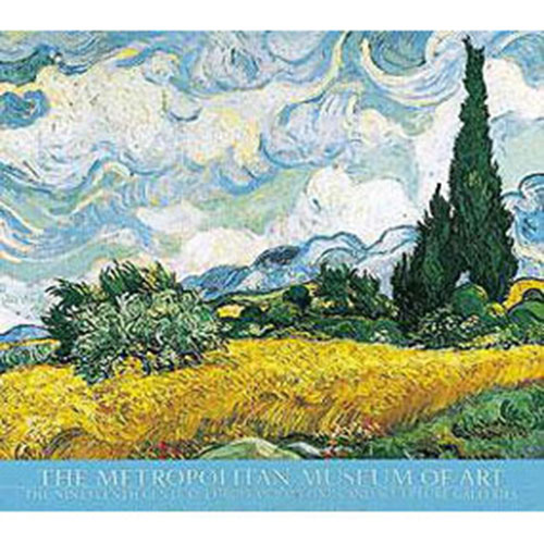 VAN GOGH: Wheatfield with Cypresses