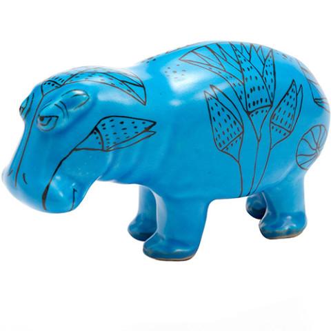 Statuette of a Hippopotamus Sculpture