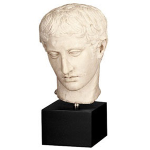 Head Of A Young Athlete Sculpture