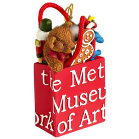 Met Shopping Bag with Toys Ornament (red)