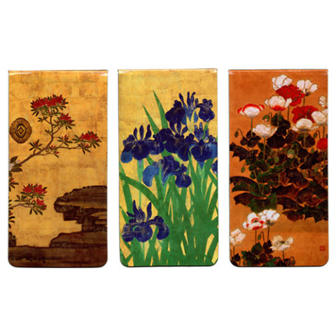 Japanese Florals Magnetic Bookmarks