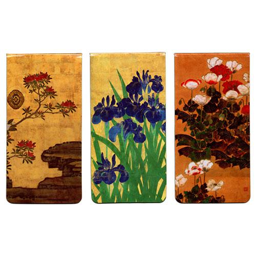 Japanese Florals Magnetic Bookmarks