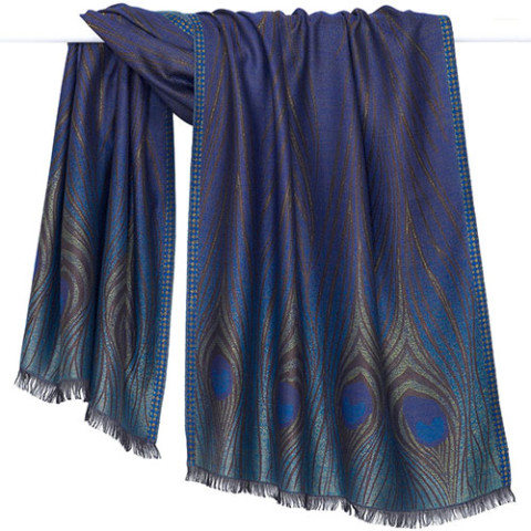 Louis Comfort Tiffany Peacock Feather Shawl (original Favrile)