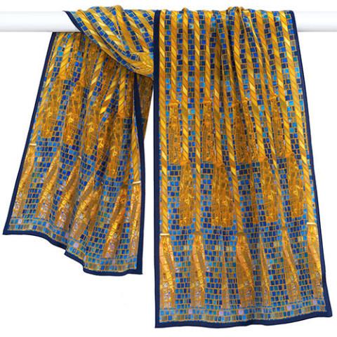 Louis Comfort Tiffany Mosaic Column Oblong Scarf