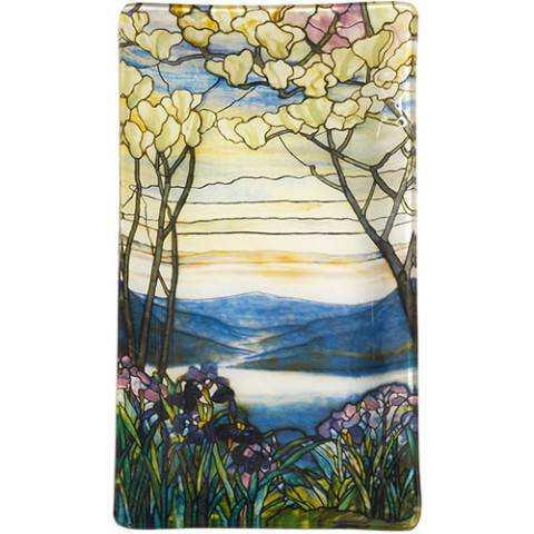 Louis Comfort Tiffany Magnolias and Irises Plate