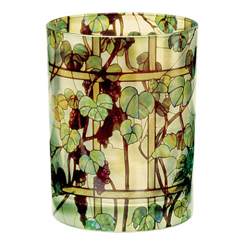 Louis Comfort Tiffany Grapevine Glass Tumbler (DOF)