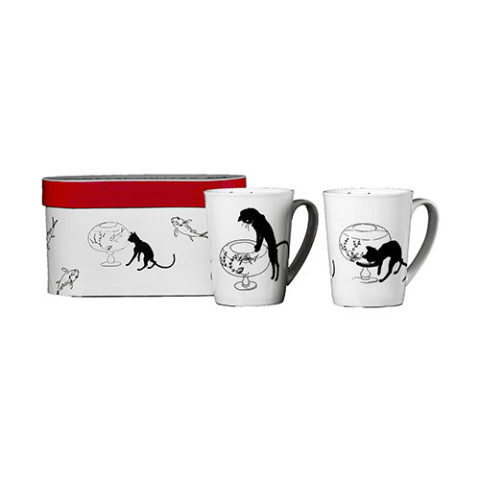 LE CHAT NOIR MUGS (SET OF 2)
