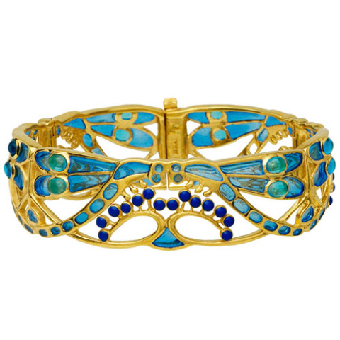 Art Nouveau Dragonfly Cuff Bracelet