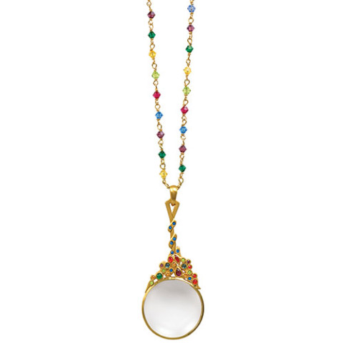 Jeweled Magnifier Pendant