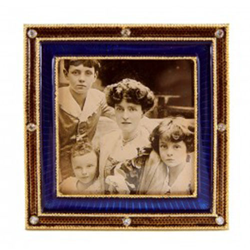 Russian Imperial Two-Color Frame (3.5-in. sq. sapphire)