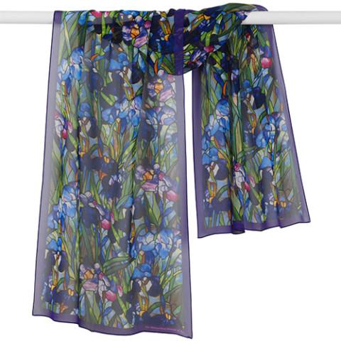Louis Comfort Tiffany Irises Oblong Scarf
