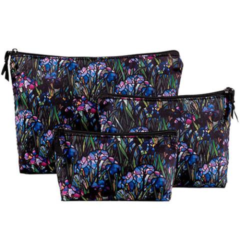 Louis Comfort Tiffany Irises Cosmetic Case Set (3)