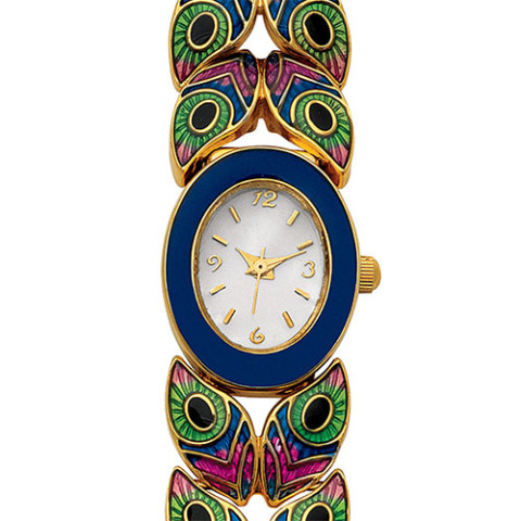 French Couture Peacock Watch