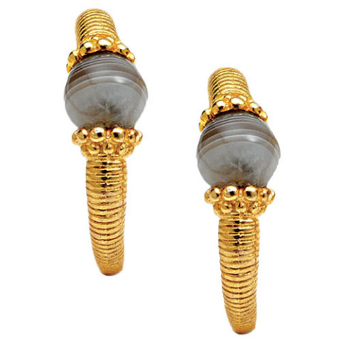 Hellenistic Agate Bead Earrings