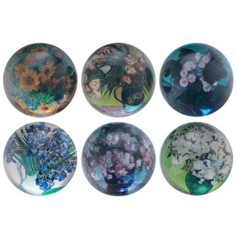 Floral Impressions Domed Magnets