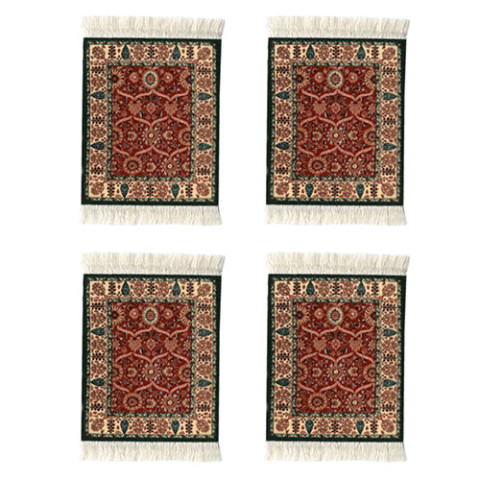 Shah Jahan CoasterRug (set of 4)