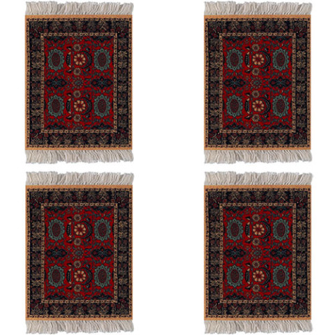 Pashmina Flowers CoasterRug (set of 4)