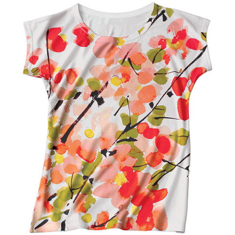 Vera Brushed Blossoms Slim Fit Top/XL