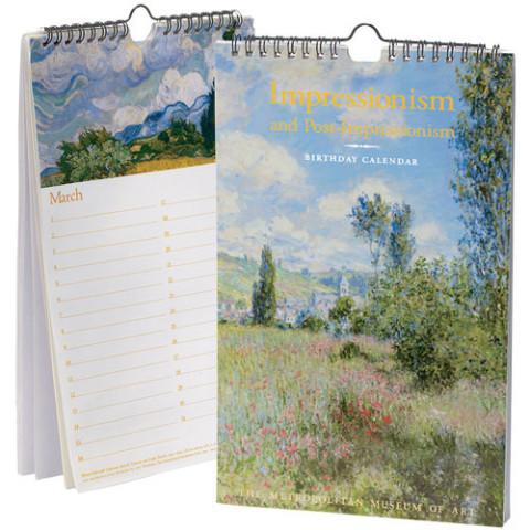 Impressionism Birthday Calendar