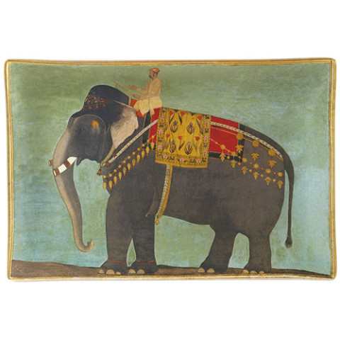 MUGHAL KING OF ELEPHANTS PLATE