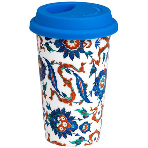 IZNIK FLORAL MOTIF CERAMIC CUP