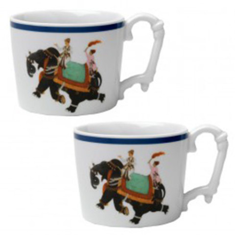 MUGHAL ELEPHANT MUGS (SET OF2)