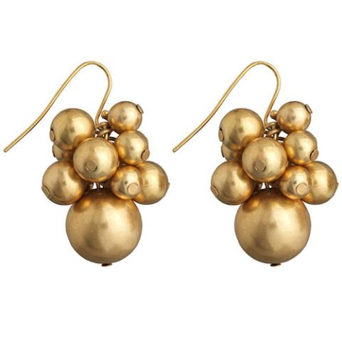 Indian Bead Cluster Earrings