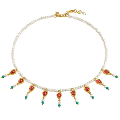 Mughal Fringe Pearl Necklace