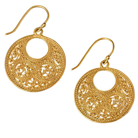 Filigree Crescent Earrings