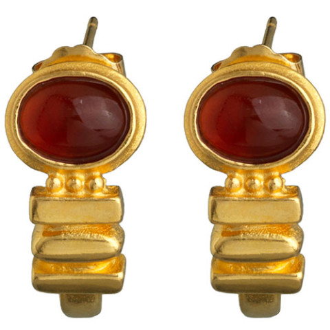 Late Hellenistic Carnelian Earrings