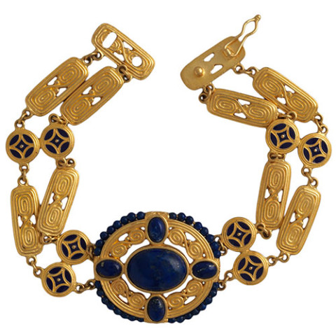 Arts & Crafts Lapis  Bracelet