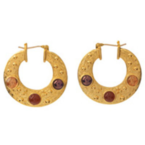 Cypriot Crescent-Shaped Earrings (small 2-sided)