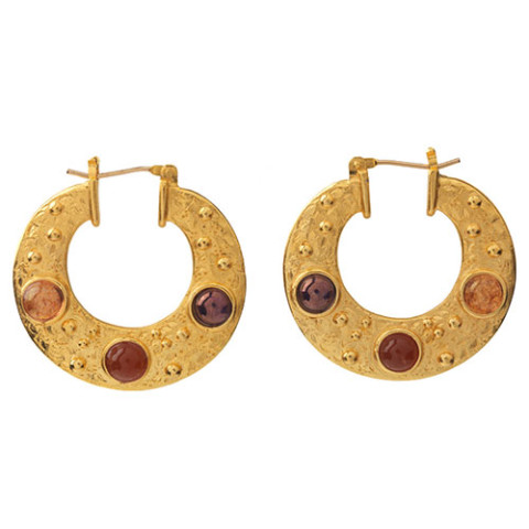 Cypriot Crescent-Shaped Earrings (large 2-sided)