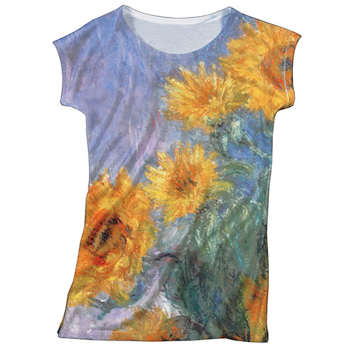 Monet Sunflowers Slim Fit Tee (large)