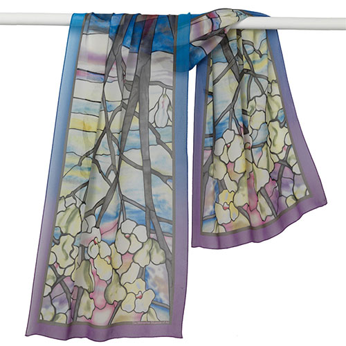Louis Comfort Tiffany Magnolias Oblong Scarf