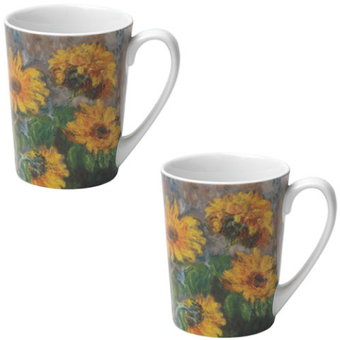 Monet Sunflowers Mugs (set of 2)