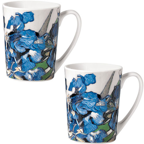 Van Gogh Irises Mugs (set of 2)