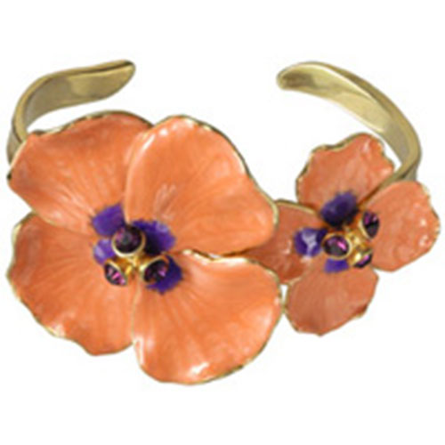 Russian Imperial Pink Pansy Cuff