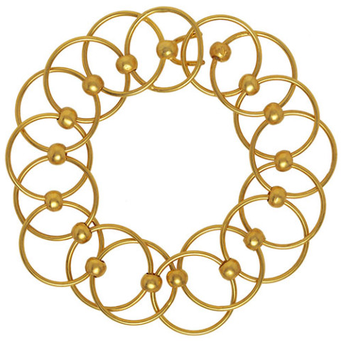 Neoclassical Circle-Link Bracelet