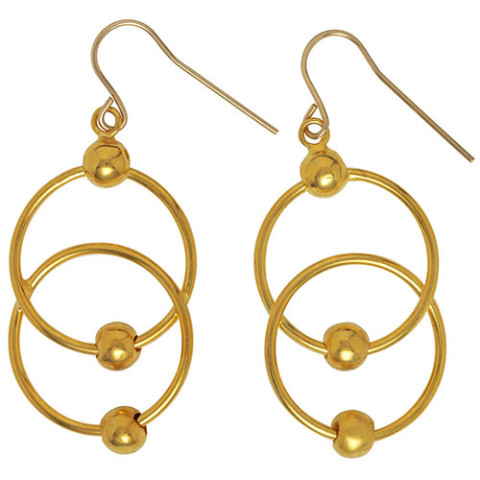 Neoclassical Circle-Link Earrings