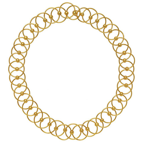 Neoclassical Circle-Link Necklace