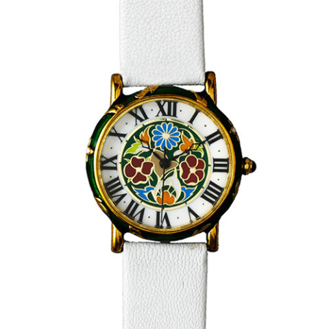 Decorative Floral Enamel Watch