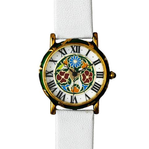 Decorative Floral Enamel Watch